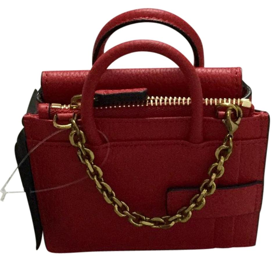 official photos b295d 4d029 MCM Ruby Red Milla Mini Bag Card Case Wallet 30% off retail