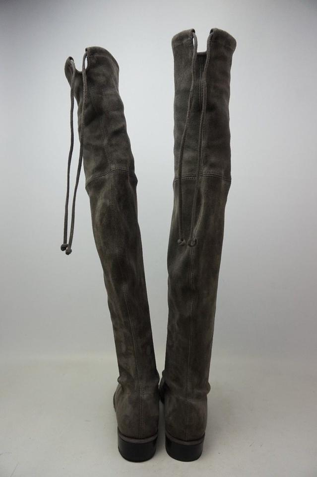 1156b8606a0 Stuart Weitzman Praline Grey Lowland Over The Knee Suede Boots ...