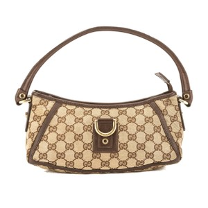 48703769c68 Added to Shopping Bag. Gucci Tote in Brown. Gucci Leather Gg Monogram  D-ring Pre Owned Brown Canvas Tote