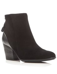 Paul Green Suede Ankle Black Boots