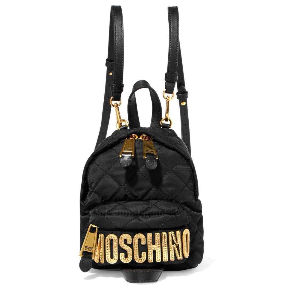 2019 hot sale skate shoes good out x Moschino Leather Trimmed Quilted Shell Mini Backpack 16% off retail