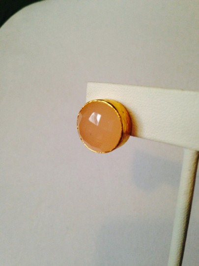 Other NWOT Faceted Peach Chalcedony Stud Earrings