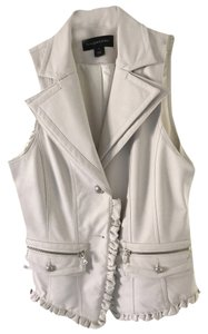 Bagatelle Imitation Leather Ivory Vest