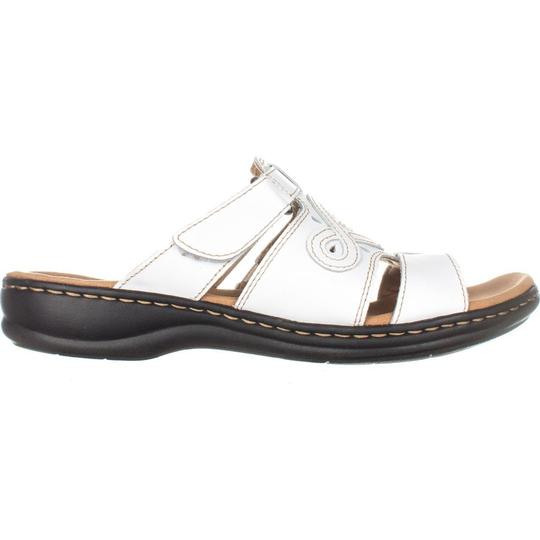 83abcc3232b Clarks White Leisa Higley Slide 124 Leather   39 Eu Sandals Size US ...