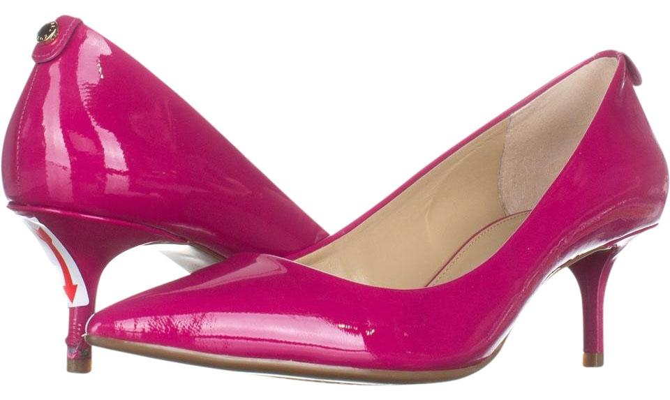 21b74f6b5de9 Michael Kors Pink Mk Flex Kitten Pointed-toe Pumps 514 Fuchsia 7 ...