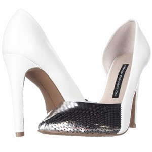 French Connection White Pumps