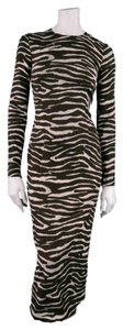 Michael Kors Tiger Animal Print Bodycon Dress