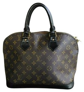Louis Vuitton Satchel in Brown and Black