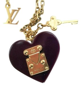Louis Vuitton Louis Vuitton Heart Padlock Necklace Valentine