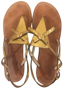 Coach Gold leather with gold hardware Sandals