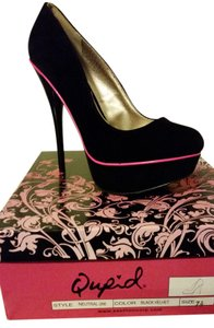 Qupid black/velvet Pumps