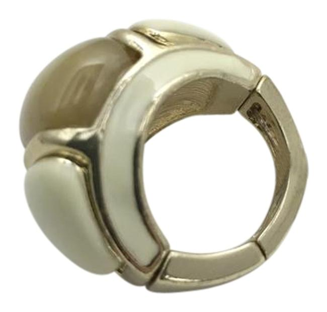 Item - Gold Ivory Amber Editorial Mod Fits Size 6-9 Ring
