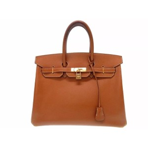 Herms Tote in Tan