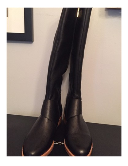 French Connection Leather Black Boots Image 4
