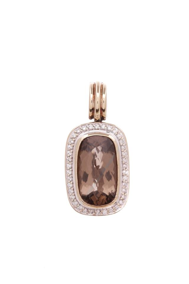 David yurman brown sterling silver 18k gold smoky quartz albion david yurman david yurman sterling silver 18k gold smoky quartz albion pendant aloadofball Image collections