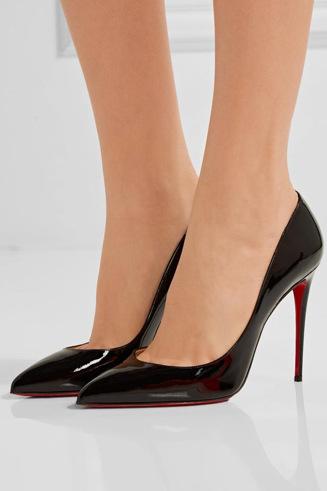 big sale 325cb 5440c Christian Louboutin Black Patent - Pigalle Follies Leather 100mm Pumps Size  EU 40 (Approx. US 10) Regular (M, B)