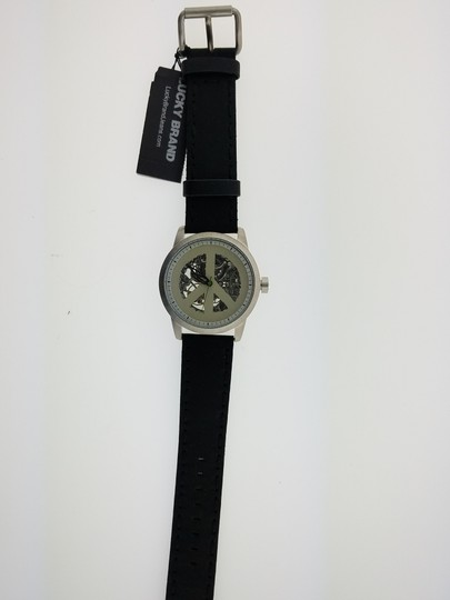 Lucky Brand 180018 Men's Black Leather Band Genuine Watch Image 1