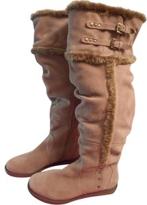 Bare Traps Fur Linning Suede Color: Whiskey tan Boots