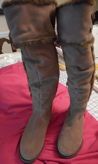 Bare Traps New Fur Linning Suede Color: Whiskey tan Boots Image 1