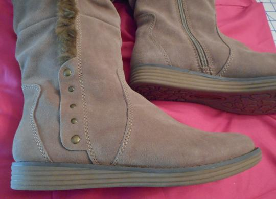 Bare Traps New Fur Linning Suede Color: Whiskey tan Boots Image 4