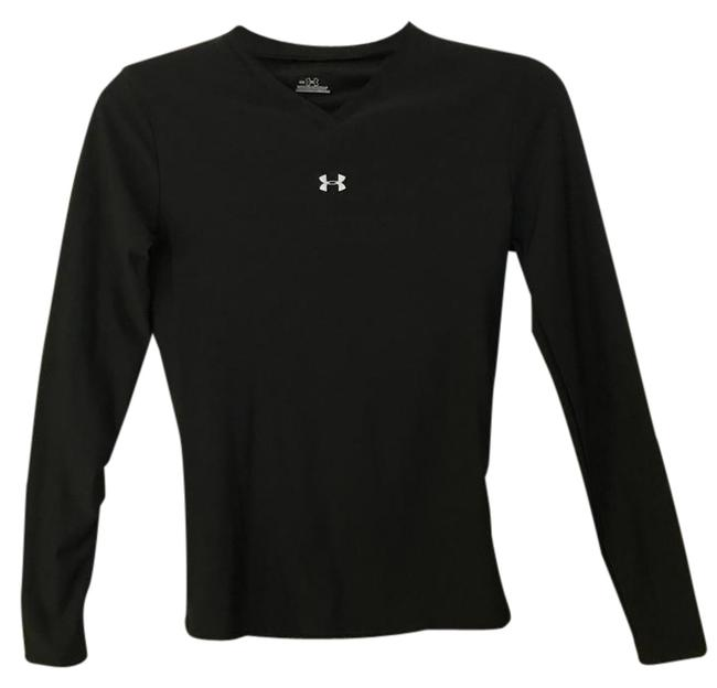 Item - Black Fitted Heat Gear V Neck Sweater Activewear Top Size 8 (M, 29, 30)