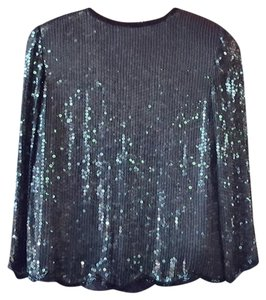 Vintage Cruise Party Holiday Evening Glamorous Top Black
