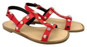 Balenciaga Studded red Sandals