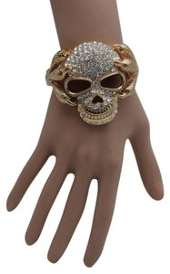 Alwaystyle4you Women Silver Gold Metal Cuff Fashion Bracelet Skeleton Skull Claws