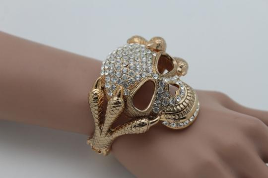 Alwaystyle4you Women Silver Gold Metal Cuff Fashion Bracelet Skeleton Skull Claws Image 1