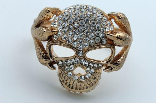 Alwaystyle4you Women Silver Gold Metal Cuff Fashion Bracelet Skeleton Skull Claws Image 2