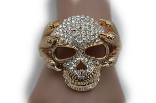 Alwaystyle4you Women Silver Gold Metal Cuff Fashion Bracelet Skeleton Skull Claws Image 3