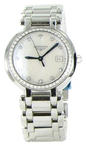 Longines Longines PrimaLuna L81120876 Diamond Bezel MOP Dial Date 30mm Watch