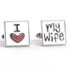 Gentlemanshop I Love My Wife Cufflinks For Men