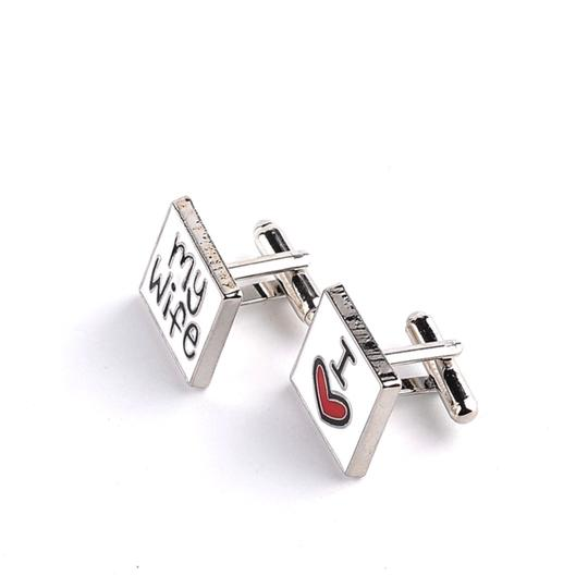 Gentlemanshop I Love My Wife Cufflinks For Men Image 1