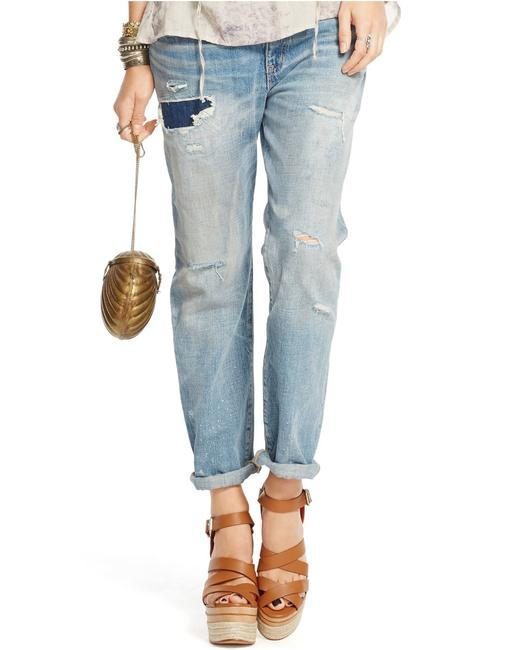 Denim & Supply Distressed Boyfriend Cut Jeans-Medium Wash Image 1