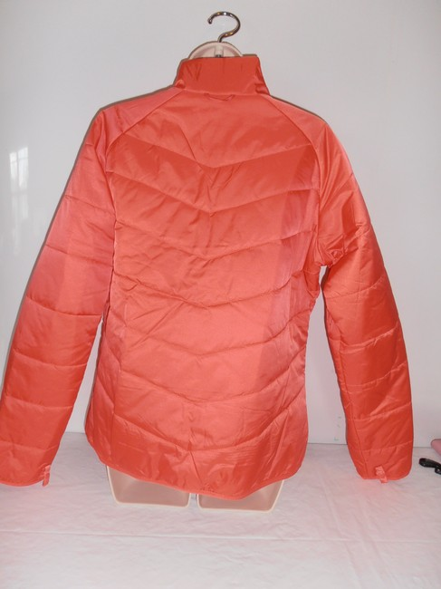 The North Face Down Hooded 3 In 1 Thermoball purple/orange Jacket Image 10