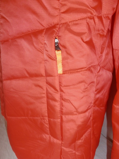 The North Face Down Hooded 3 In 1 Thermoball purple/orange Jacket Image 11