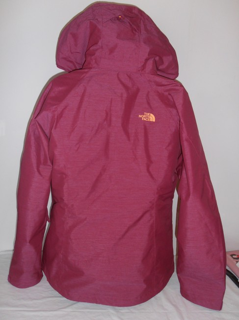 The North Face Down Hooded 3 In 1 Thermoball purple/orange Jacket Image 2