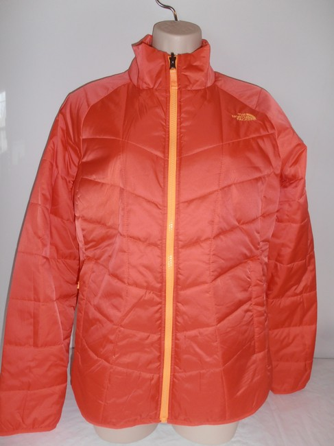 The North Face Down Hooded 3 In 1 Thermoball purple/orange Jacket Image 7