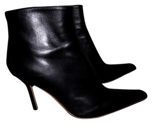 Vicini Giuseppe Zanotti Leather Leather Size 6 Size 5.5 Excellent Condition Cocktail Night Out Date Night Event Night Club In Black Boots