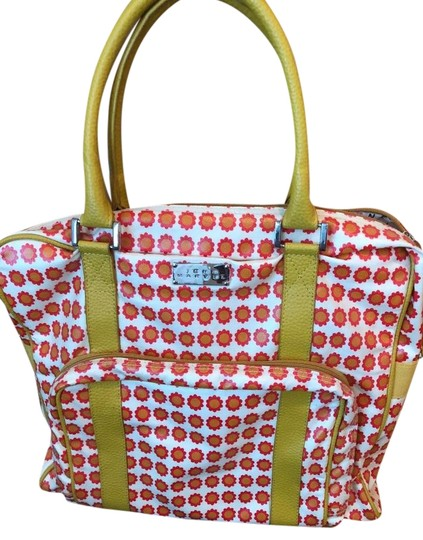 Preload https://img-static.tradesy.com/item/22352313/yellow-red-and-white-coated-canvas-tote-0-1-540-540.jpg