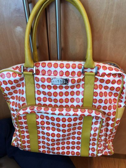 Jane marvel large tote with leather handles Tote in Yellow, red, & white Image 1