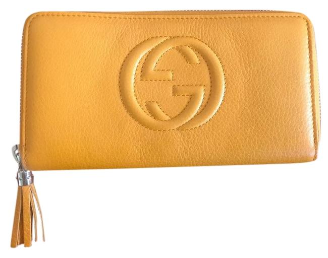 Item - Never Used Wallet Yellow Leather Wristlet