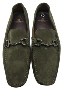 Bruno Magli Suede Men Loafers Driver Green Flats