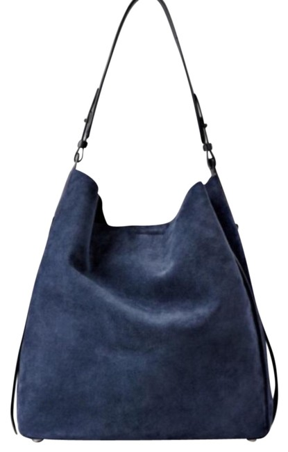 Item - Paradise North/South Tote Blue Suede Leather Hobo Bag