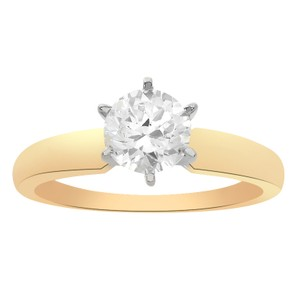 Avital & Co Jewelry Yellow Gold 1.00 Carat Round Cut 14k Engagement Ring