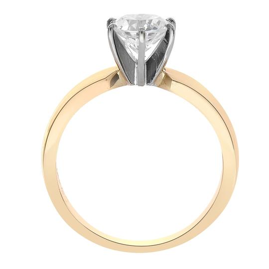 Avital & Co Jewelry Yellow Gold 1.00 Carat Round Cut 14k Engagement Ring Image 2
