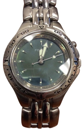 Preload https://img-static.tradesy.com/item/22352638/fossil-silver-stainless-steel-am-3613-blue-watch-0-1-540-540.jpg