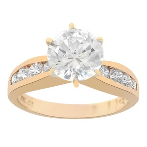 Avital & Co Jewelry Yellow Gold 2.50 Carat Round Cut 10k Engagement Ring