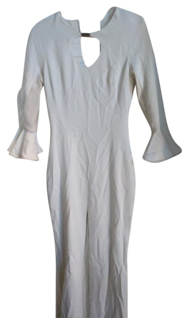 Item - White With High Slit Long Night Out Dress Size 2 (XS)